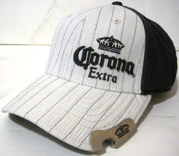 Blue Corona Extra Beer Bottle Opener Baseball Cap Hat