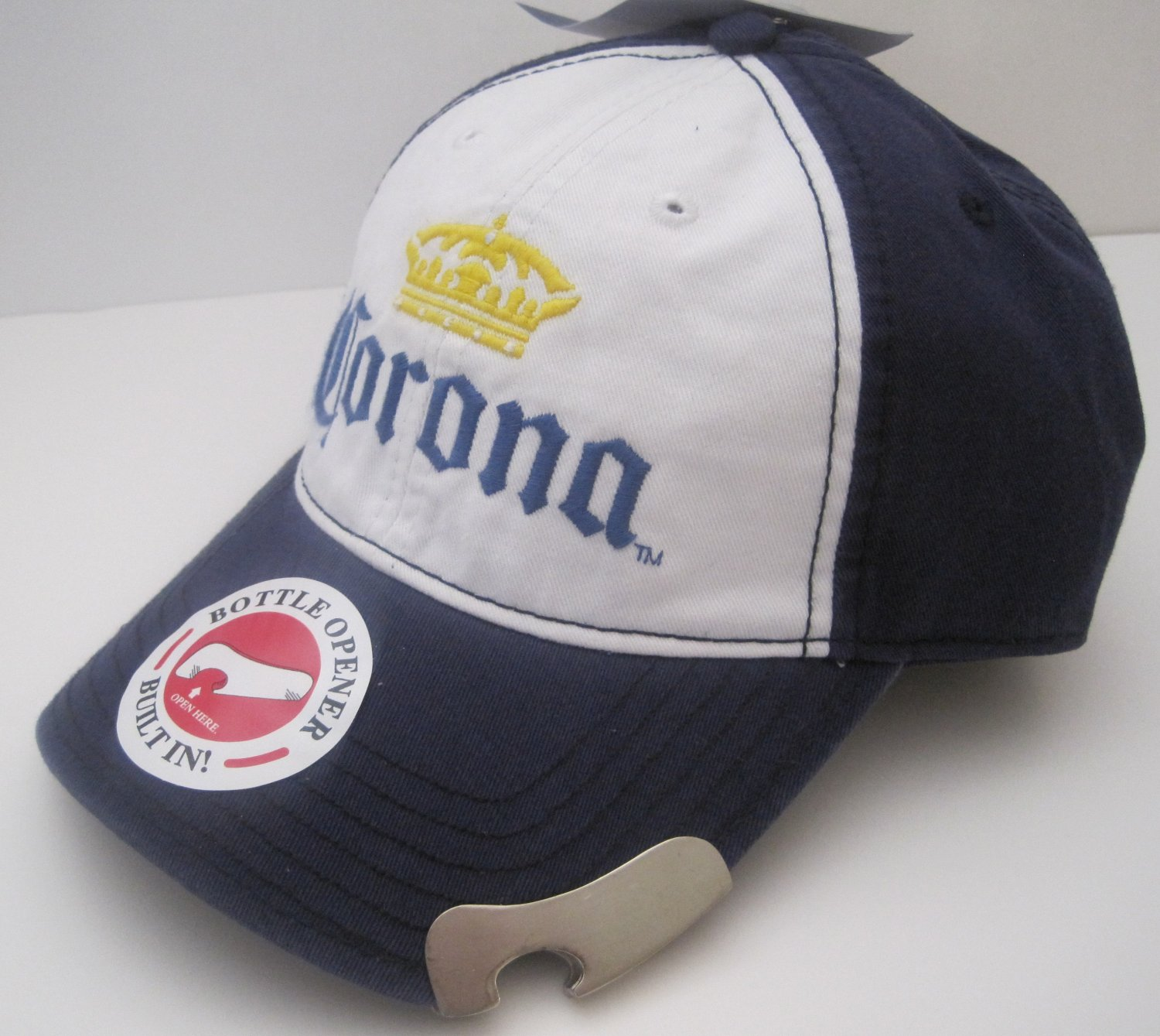 Corona Extra Beer Cerveza Bottle Opener Ball Cap Hat