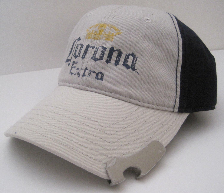 Corona Extra Beer Cerveza Bottle Opener Ball Cap Hat