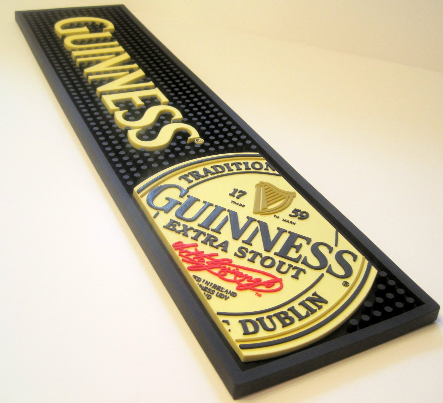 Guinness Extra Stout Irish Beer Pub Pint Glass Bar Mat