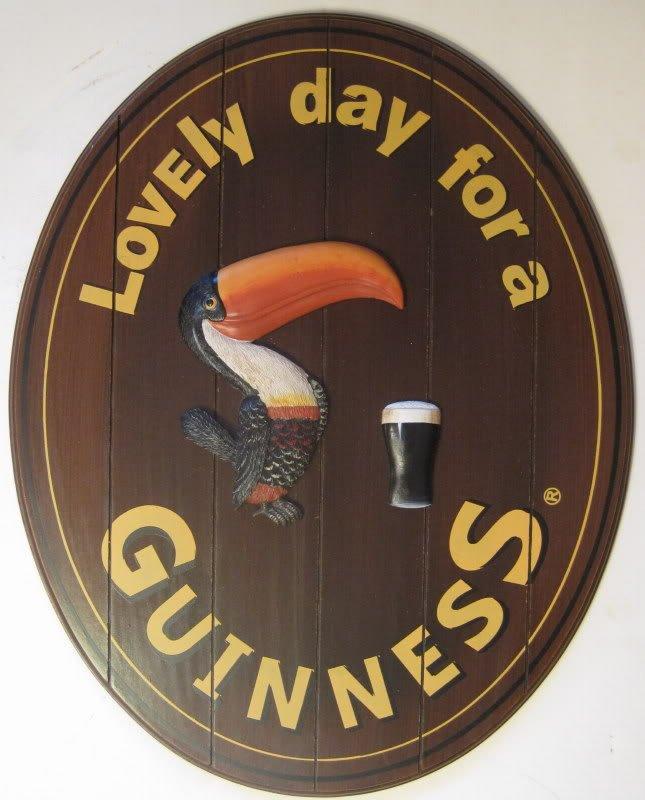 Guinness Irish Beer Lovely Day Wood Plank Pub Bar Sign