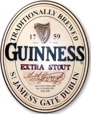 Arthur Guinness Extra Stout Irish Beer Pub 3D Pint Glass Wood Wall Home Bar Sign