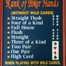 Casino Poker Card Player Game Bar Pub Room Deck Hand Wood Wall Sign 10-HHD-S817