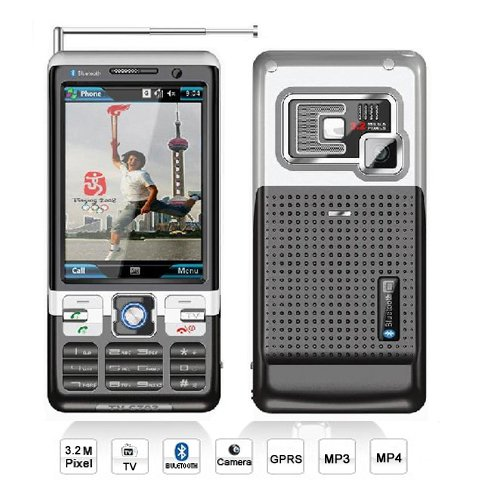 TV C702 Unlocked Quad Band Mobile Phone with Dual SIM with Bluetooth