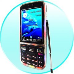 Quad Band Dual SIM Cellphone - Slim Touchscreen Mobile (Black)
