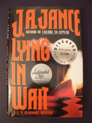Lying in Wait by JA Jance 1994 HBDJ 1st Ed. Signed