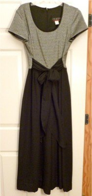 Vintage 80's J.R. Nites by Caliendo Metallic Top Jumpsuit Silky Wide Legs 10