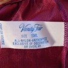 Vintage Vanity Fair Half Slip Rich Maroon Color Lace Accents S