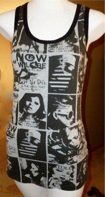 Love Culture Punk Photo Montage Multi-Cut Back Feature Ladies Tank Top Size M