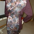 VTG 80s LaBelle Burgundy Floral 2 Tone Power Suit