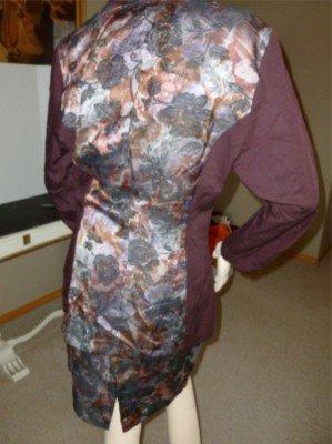 VTG 80s LaBelle Burgundy Floral 2 Tone Power Suit