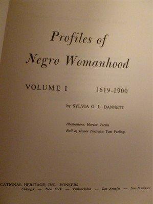 The Negro Heritage Library Vol I Profiles of Negro Womanhood Oversize HB 1964