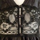 Vintage Deadstock NWT Lily of France Rosa Puleo-Szule Black Nylon Lace Nightgown