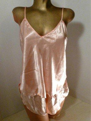 Vintage Shimmery Satiny Peach Camisole & Tap Panty Set