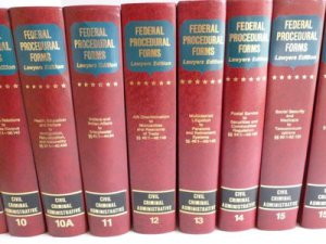 Lot 19 Federal Procedural Forms Lawyers Ed. Civil Criminal Admin. Leather HB