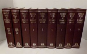 Lot 13 Federal Rules of Evidence Service Callaghan Leather Bound HB 1970's