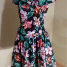 Vintage 1980's Joni Blair Party Girl Dress Poof Skirt Wide Gathered Neckline