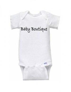 """""""Baby Boutique"""" Logo Short Sleeve Onesie"""