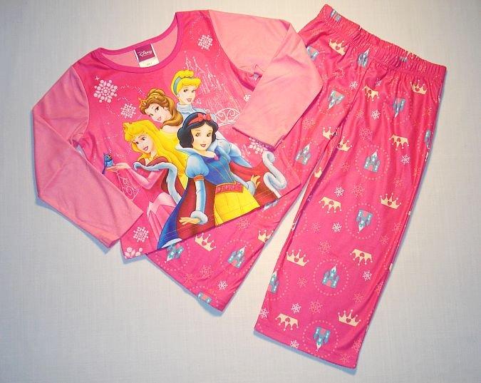 DISNEY PRINCESS Girl's Size 8 Pajama Set, NEW
