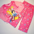 DISNEY PRINCESS Girl's Size 4 Pajama Set, NEW