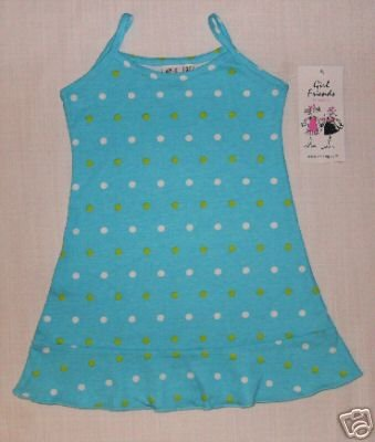 ANITA G Girls 3T Sundress, Torquoise w/ Dots, NEW
