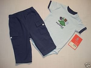 CARTER'S Boy's 6 M Pants Outfit, 'Dino Expedition' NEW