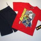 LEGO BATMAN Boy's Size 6 Shorts, T-Shirt Set, Outfit, NEW
