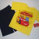 DISNEY PIXAR CARS Boy's Size 6 Shorts, T-Shirt Set, NEW