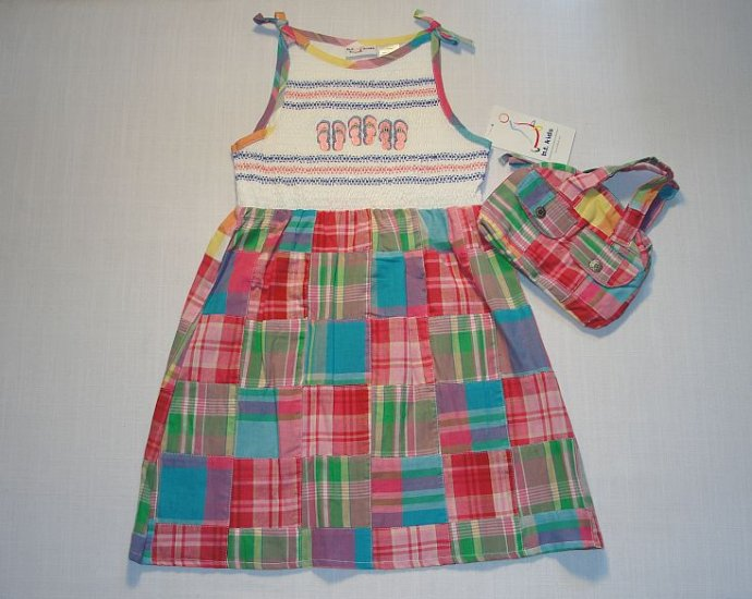 B.T. KIDS Girl's 6 Summer Patchwork Sundress Set NEW