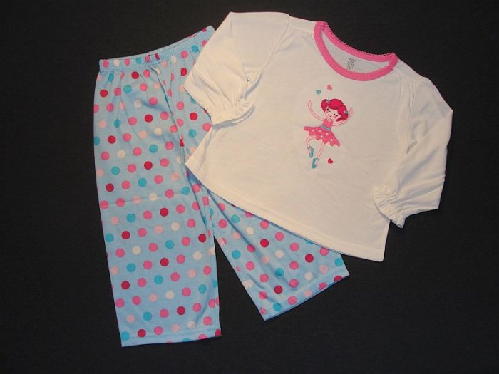 JUST ONE YEAR Girl's 2T BALLERINA Pajama Set, NEW