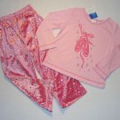 GIRL'S SIZE 4/5 PINK BALLERINA PAJAMA PANTS SET, NEW