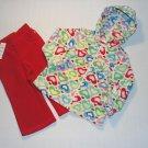 CHILDRENS PLACE Girls 18 M Fleece Heart Hoody Pants Set