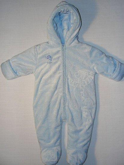 DISNEY TIGGER 6-9 M Blue Fleece Plush Snowsuit