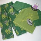 CARTER'S Super-Comfy Boys 4T Fleece Pajama Set Football