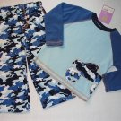 CARTERS Super-Comfy Boys 4T Fleece Pajama Set Blue Camo