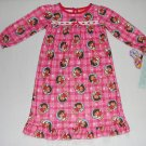 NICKELODEON Girl's 2T DORA Winter Themed Nightgown, NEW