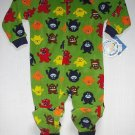 CARTER'S SUPER-COMFY Boy's 3T Fleece 'MONSTER' Sleeper