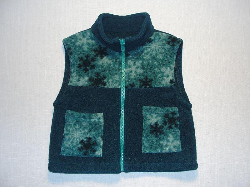 MINIKINS Maine Girls Size 3 Green Polartec Fleece Vest