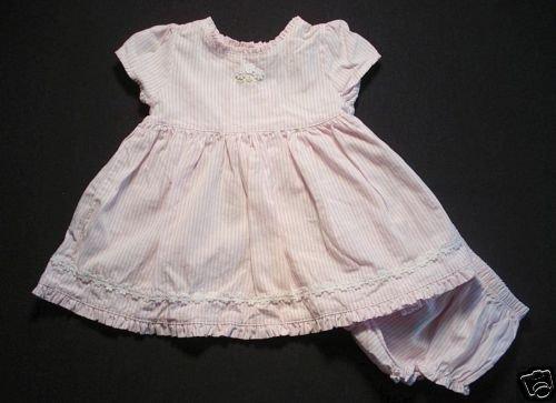 YOUNGLAND Girls 3-6 Months Summer Dress Set, EUC