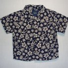 Bowen & Wright Boy's Size 24 Months Navy Blue Floral Short-Sleeved Shirt
