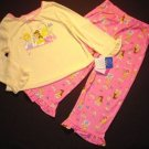 DISNEY PRINCESS Girls Size 2/3 Pajama Set, NEW