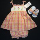 B.T.KIDS Girl's 6-9 M Spring Floral Dress, Sandals Set