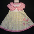 YOUNGLAND Girl's 4T Pink Floral Hearts Dress, NEW
