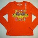 CHILDREN'S PLACE Girls 10-12 Orange Long-Sleeved Shirt