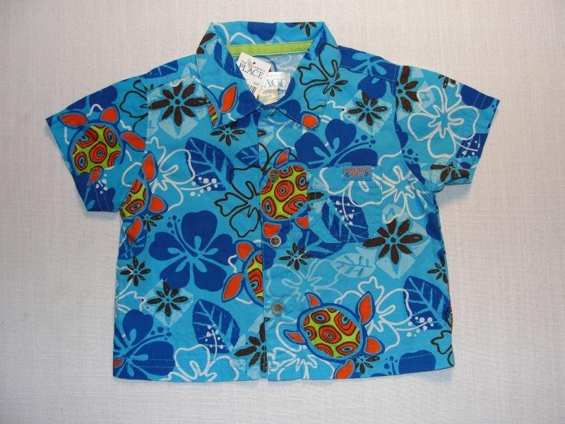 CHILDREN'S PLACE Boy's 3-6 M Short-Sleeved Shirt, NEW