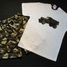DOGWOOD USA Boy's Sz 5 Camo Shorts Dumptruck Outfit NEW