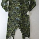 JUMPING BEANS Boy's Size 6 Fleece Dinosaur Pajama Sleeper, NEW