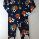 JUMPING BEANS Boys Size 4 Fleece Sports Sleeper, NEW