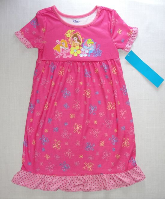 DISNEY PRINCESS Girl's Size 4 Pink Nightgown, NEW