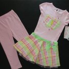 YOUNGLAND Girl's Size 5 Butterfly Dress Tunic Pants Set